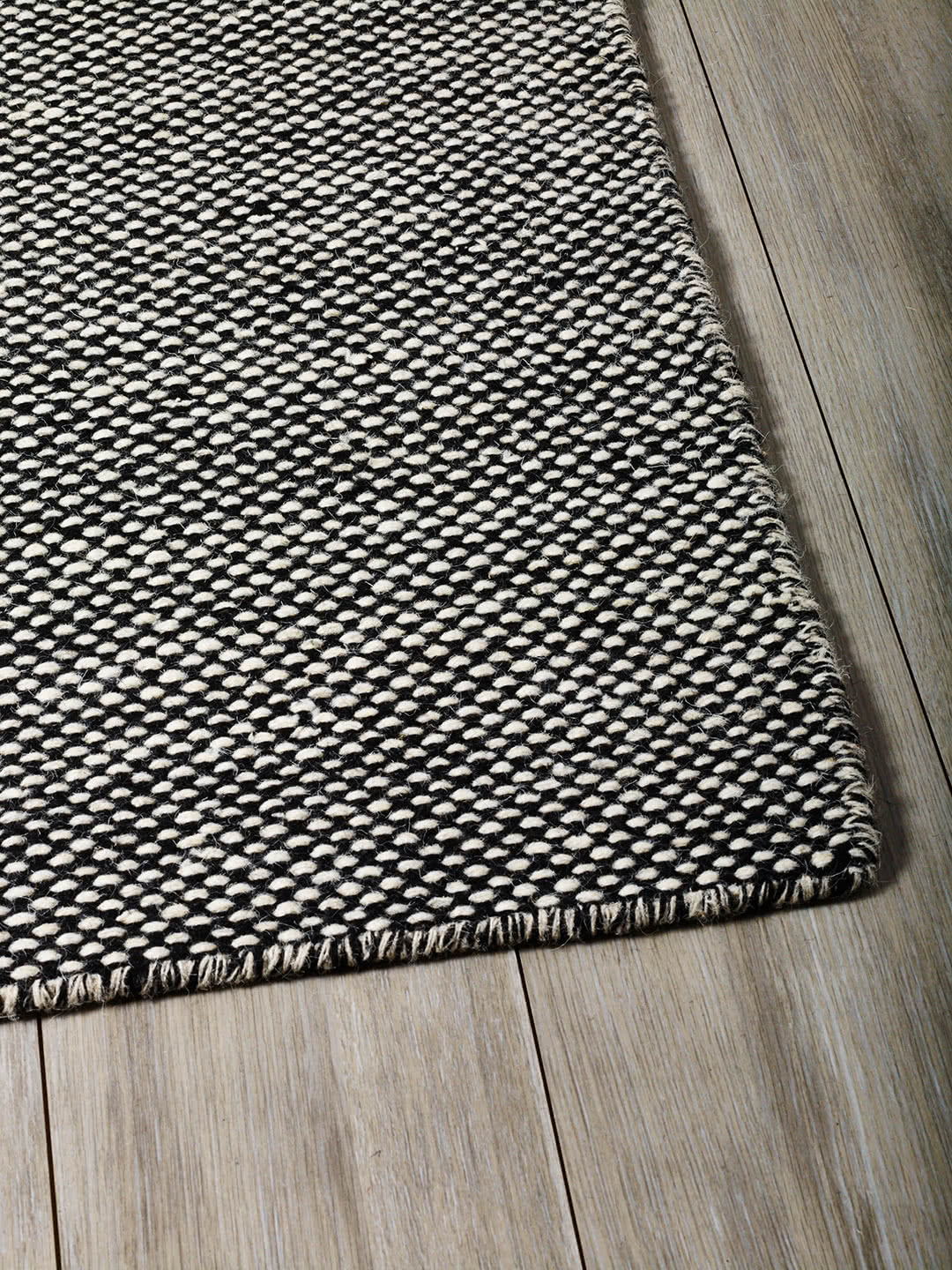 Black Beige pure wool rugs Perth