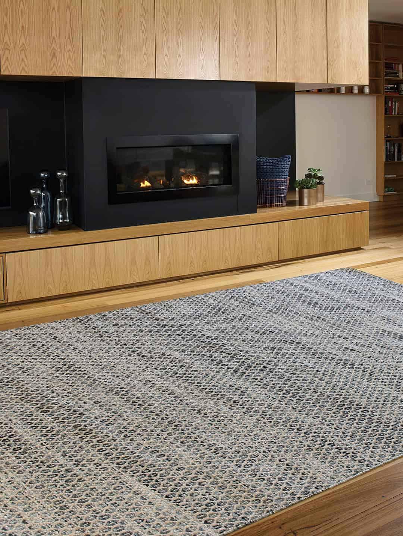 Braid Hive-Denim pure wool rugs Perth