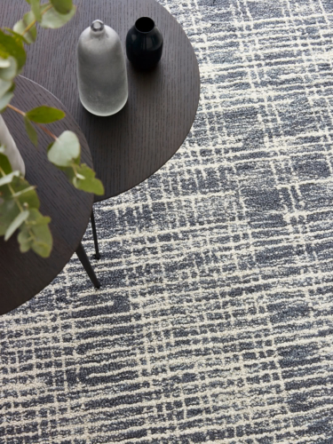 Canvas-Aegean Blue wool blend rugs Perth