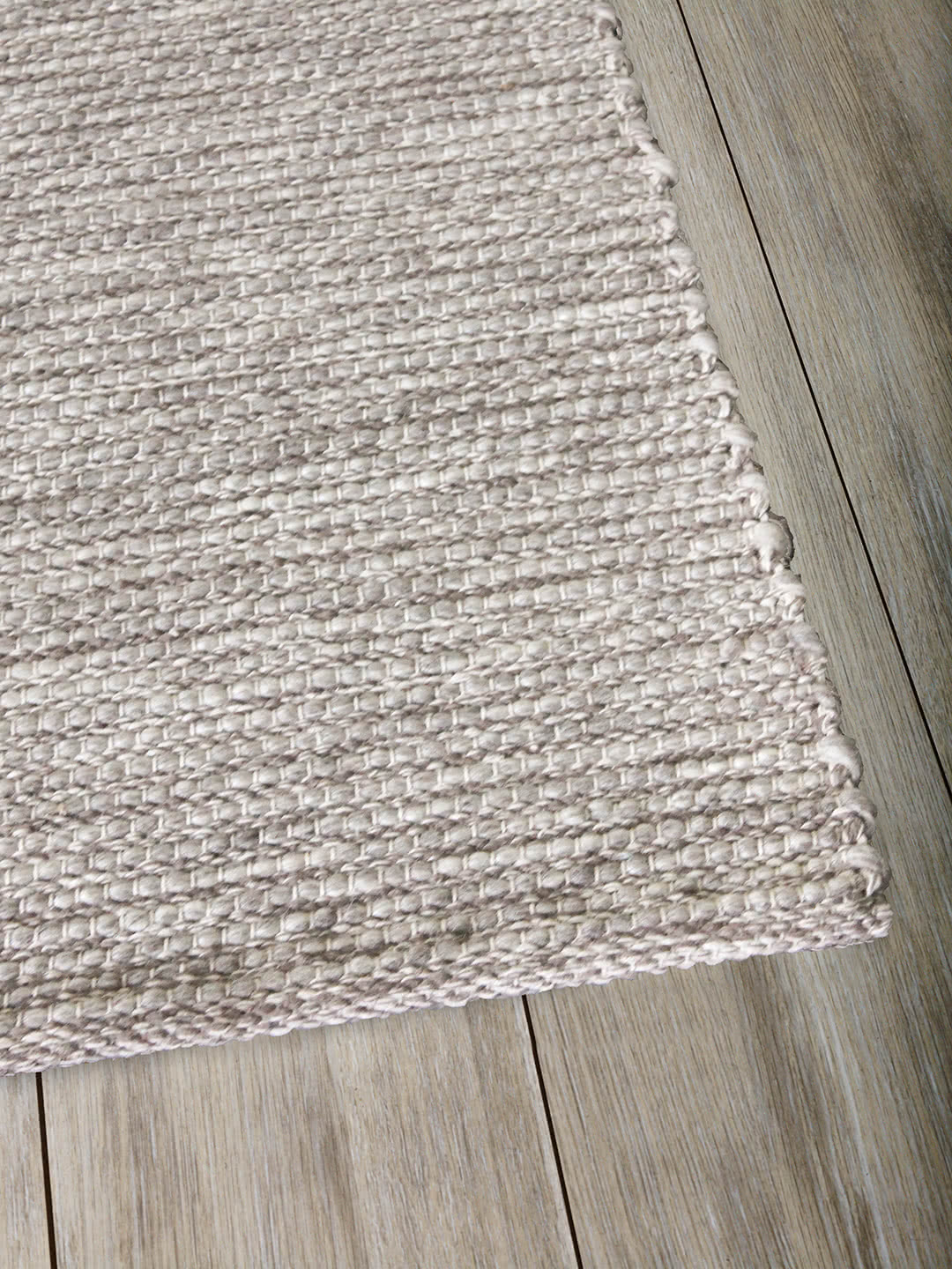 Natural Silver pure wool rugs Perth