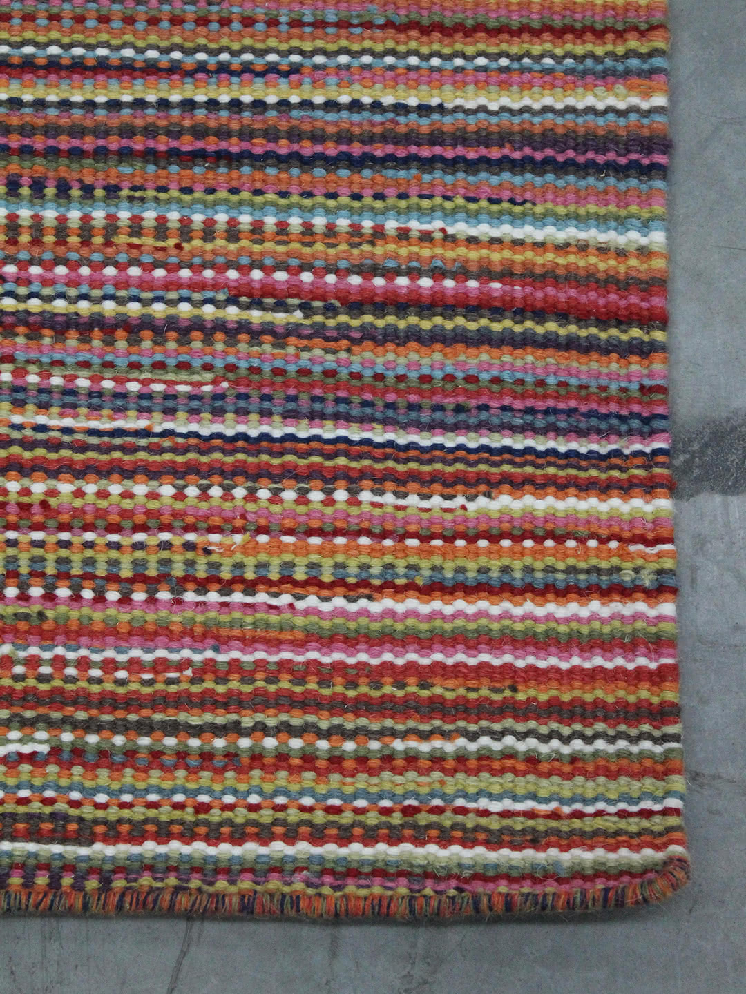 Rainbow-Multi pure wool rugs Perth