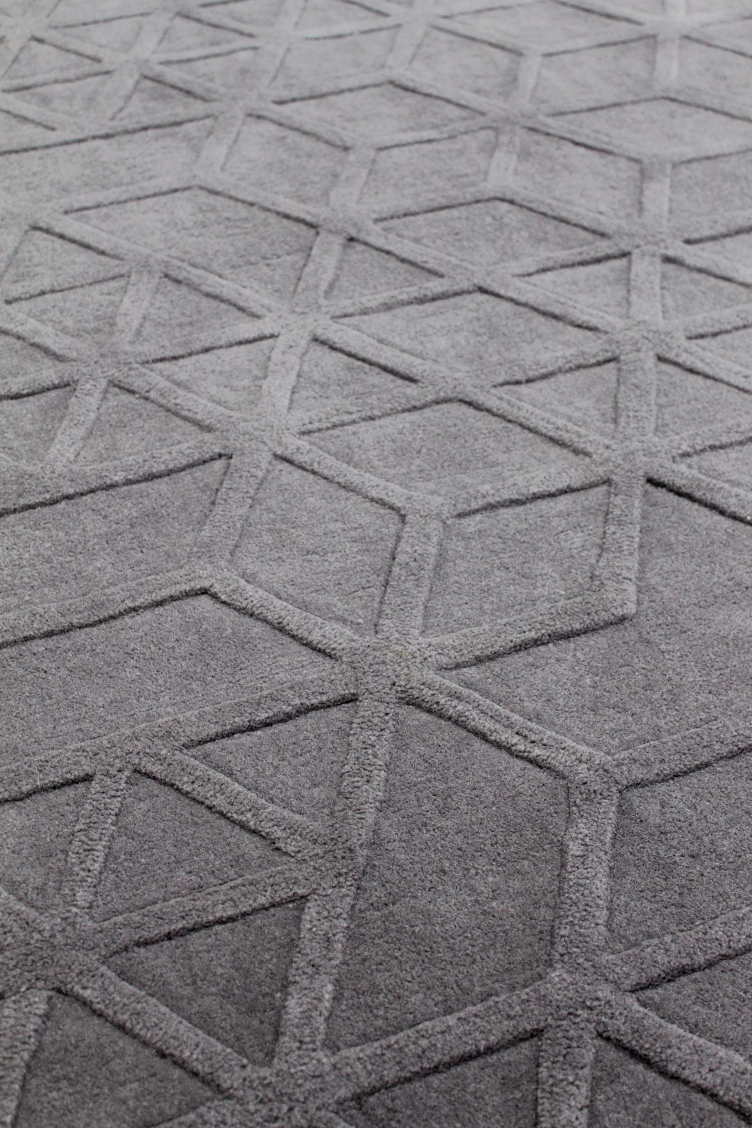 lima-hand-tuffed-nz-wool-blend-textured-rugs-perth-stans-Grey-raised
