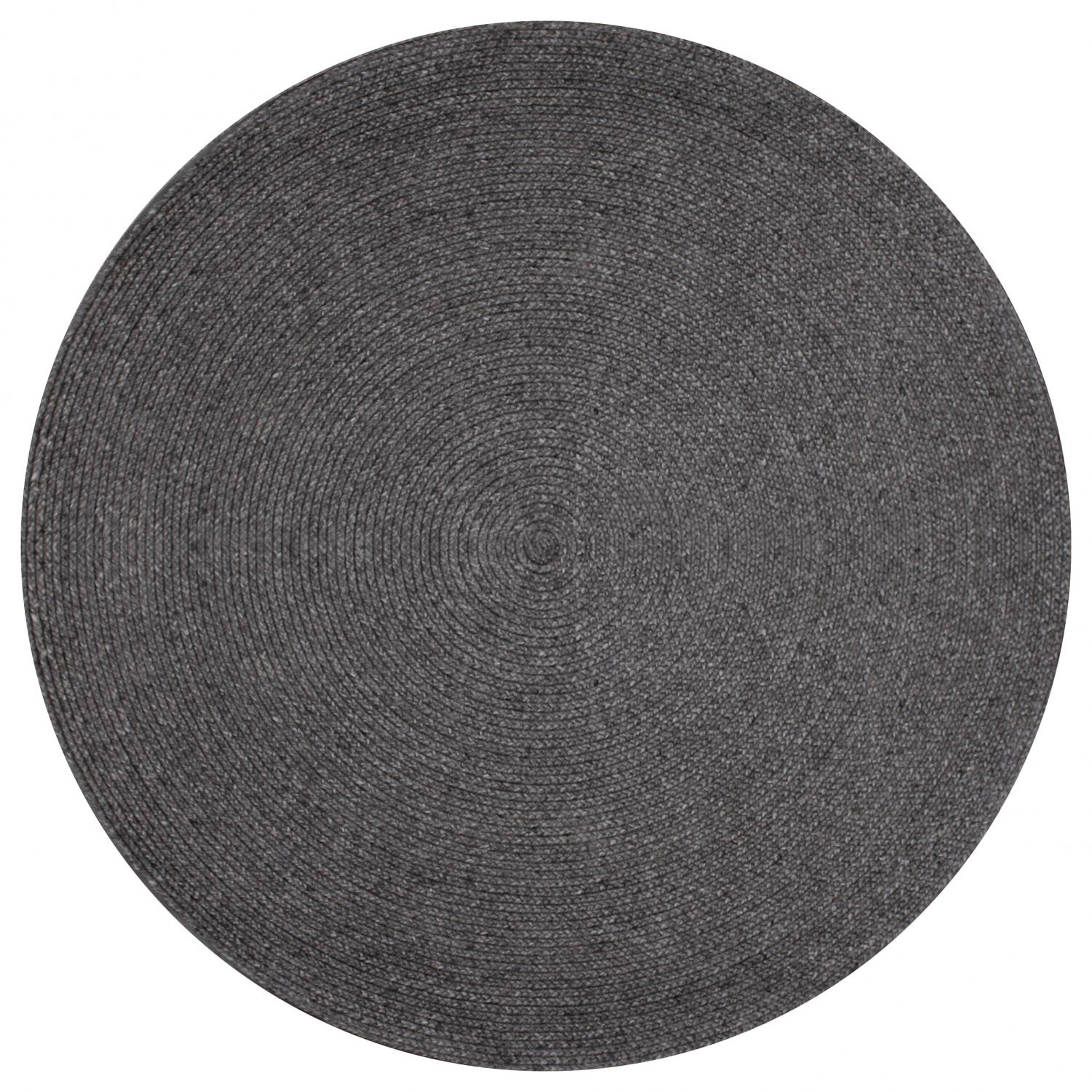 hand-woven-wool-and-art-silk-shaped-rugs-circle-perth-Stans-Charcoal