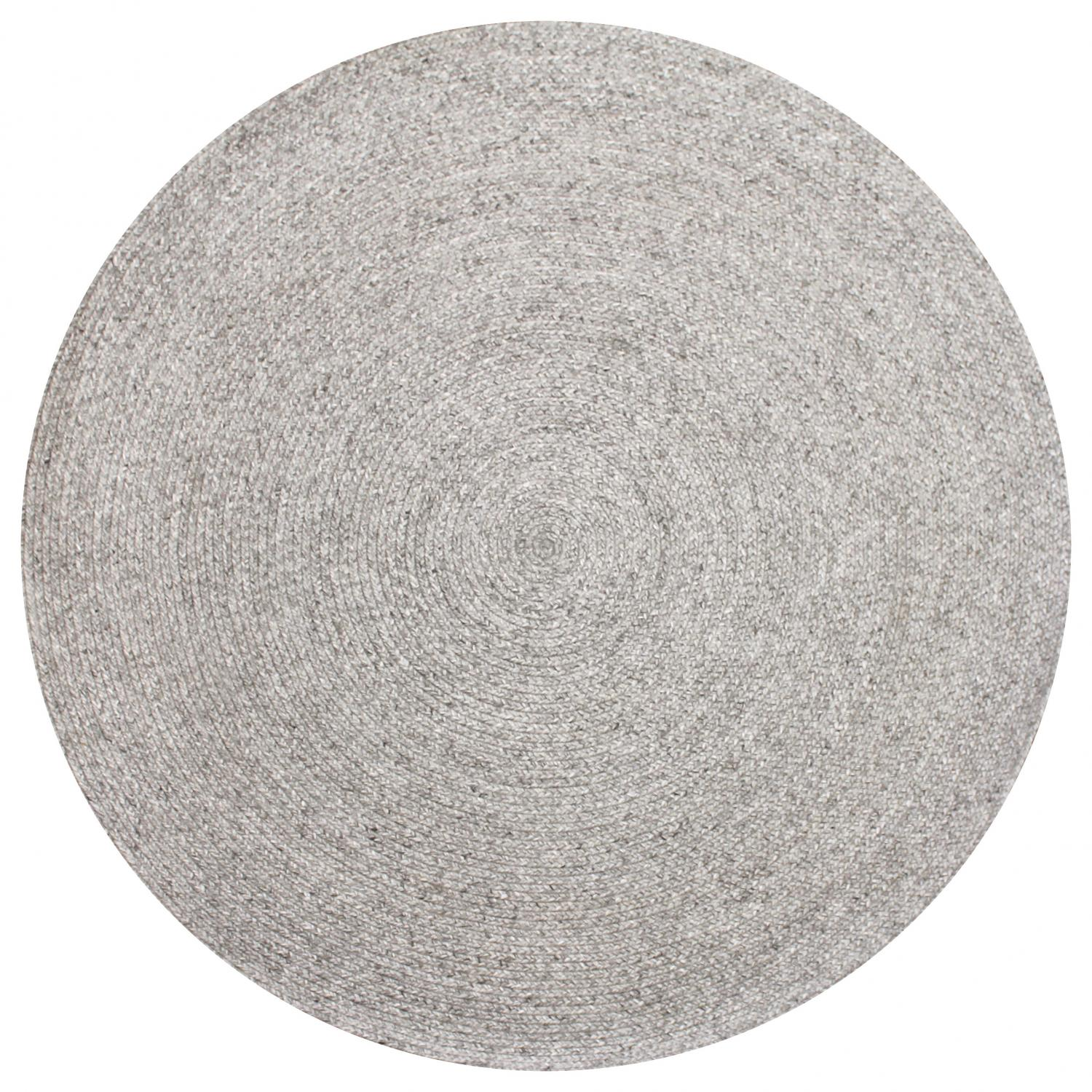 hand-woven-wool-and-art-silk-shaped-rugs-circle-perth-Stans-silver