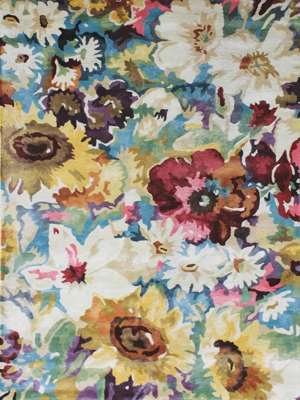 romance multi floral rug