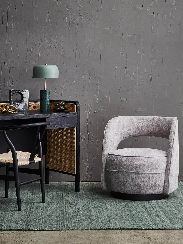 Diva-lilypad-green-pure wool rug