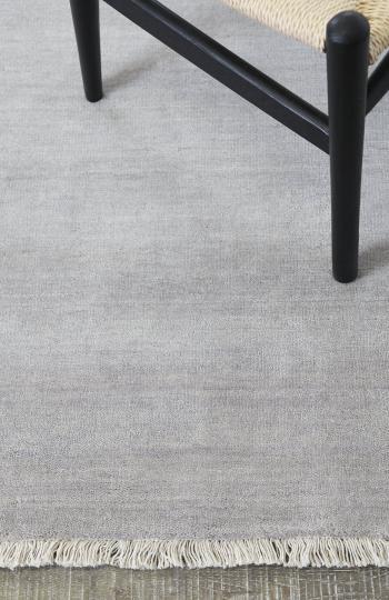 Diva-moonstone-silver-pure wool rug