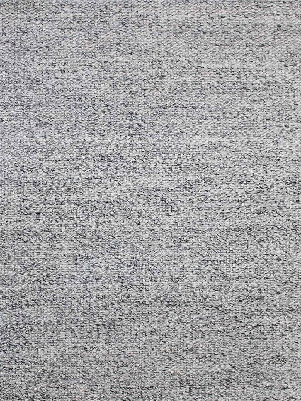 palmas smoke grey wool flat weave texture stans rug centre